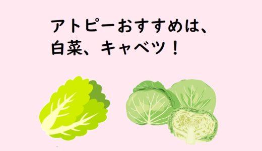 アトピーにおすすめの野菜 白菜・キャベツ